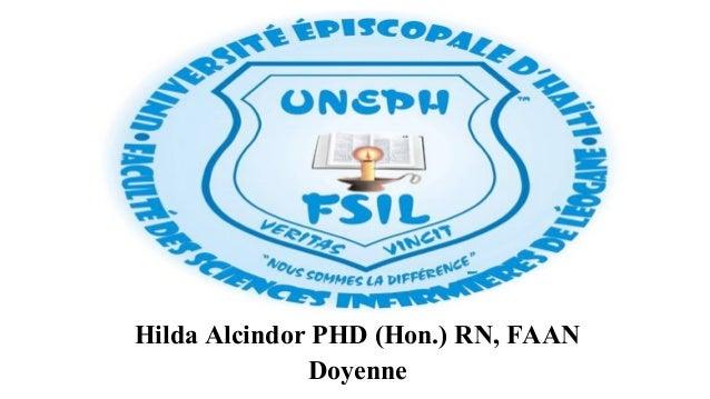 HH Hilda Alcindor PHD (Hon.) RN, FAAN Doyenne