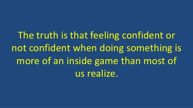 how to feel confident all the time