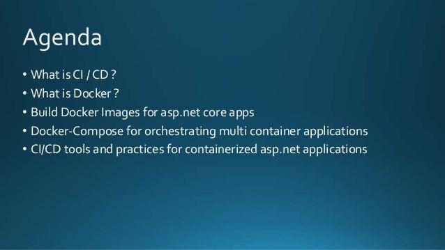 CI/CD for Asp net core apps using Docker