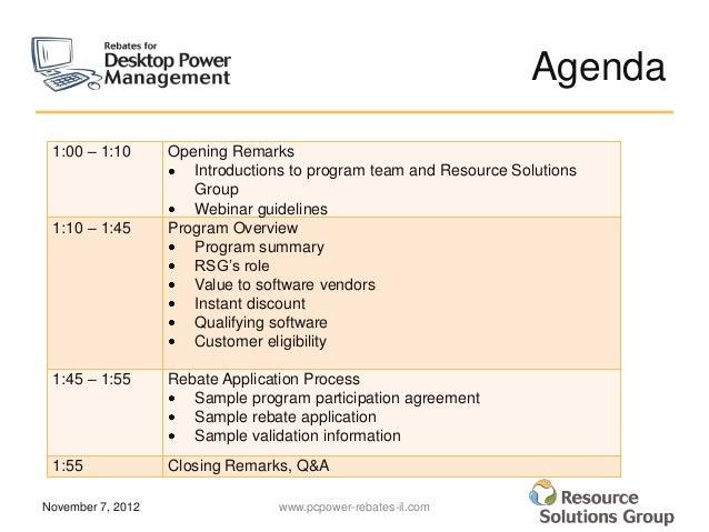 Desktop Power Management Rebate Program Vendor Webinar