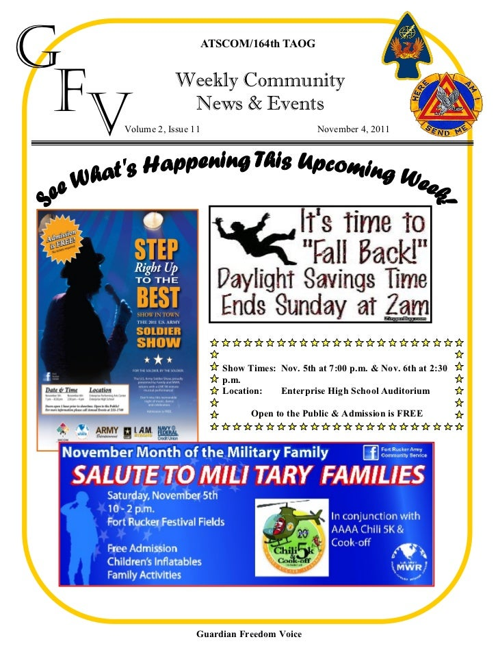 G                      ATSCOM/164th TAOG Fv           Weekly Community               News & Events  Volume 2, Issue 11    ...