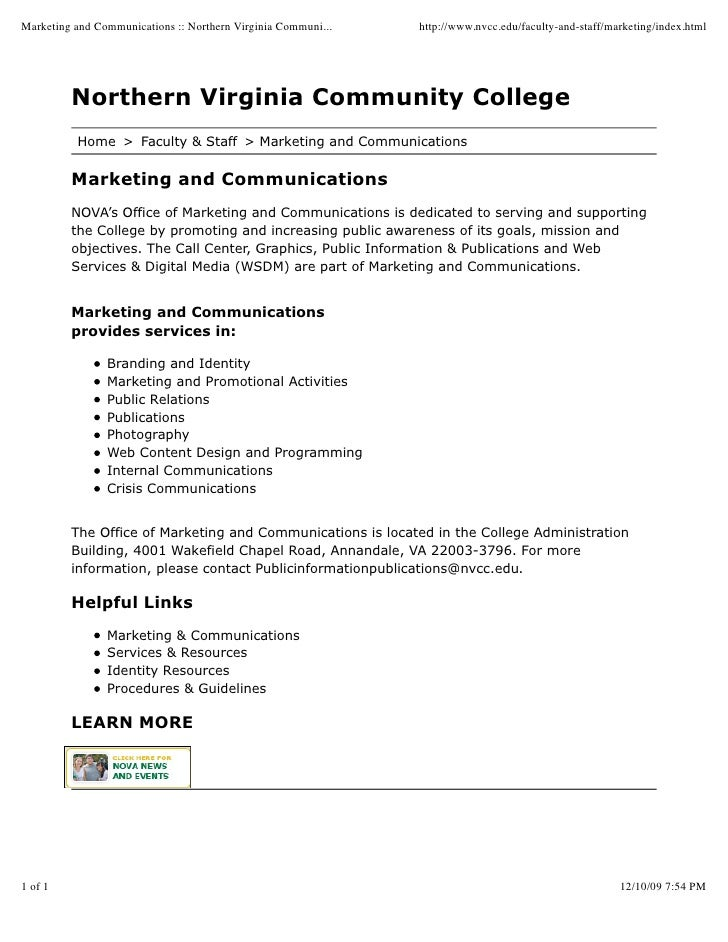 Marketing and Communications :: Northern Virginia Communi...   http://www.nvcc.edu/faculty-and-staff/marketing/index.html ...