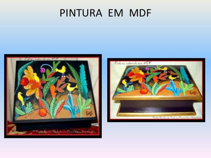 PINTURA EM MDF