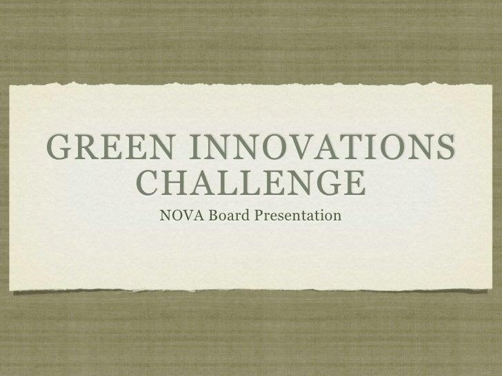 Nova board presentation