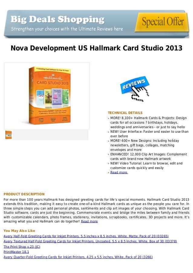 Nova Development US Hallmark Card Studio 2013TECHNICAL DETAILSMORE! 8,100+ Hallmark Cards & Projects: Designqcards for all...