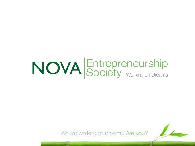 ObjectivesNOVA Entrepreneurship Society (NES) is a nonprofit organization, run by students and  alumni of NOVA University ...