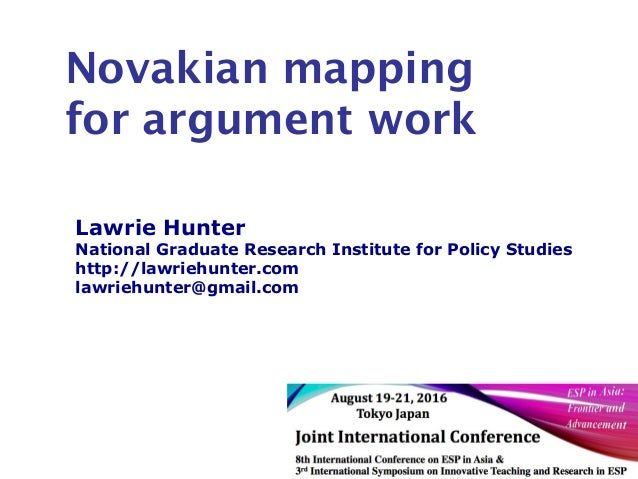 Lawrie Hunter National Graduate Research Institute for Policy Studies http://lawriehunter.com lawriehunter@gmail.com Novak...