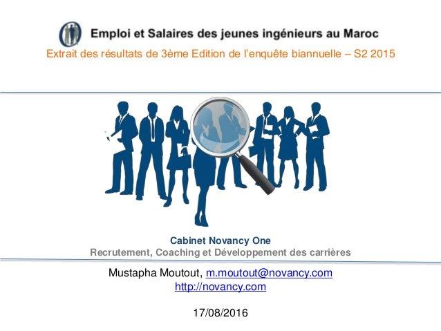 Novancy one emploi et salaire des jeunes ing nieurs au maroc - Cabinet de recrutement au maroc ...