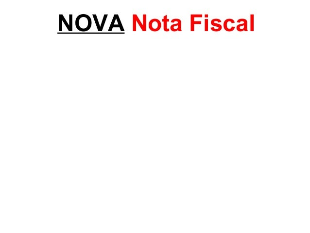 NOVA Nota Fiscal