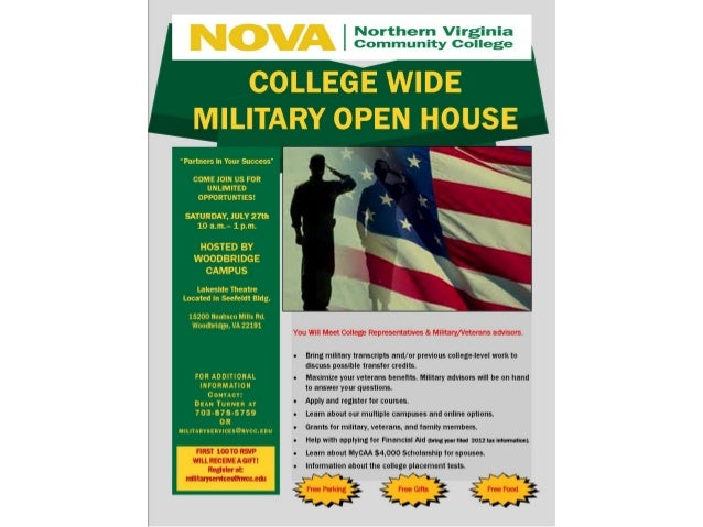 College Wide Military Open House