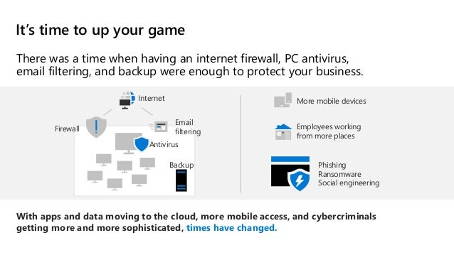 There was a time when having an internet firewall, PC antivirus, email filtering, and backup were enough to protect your b...