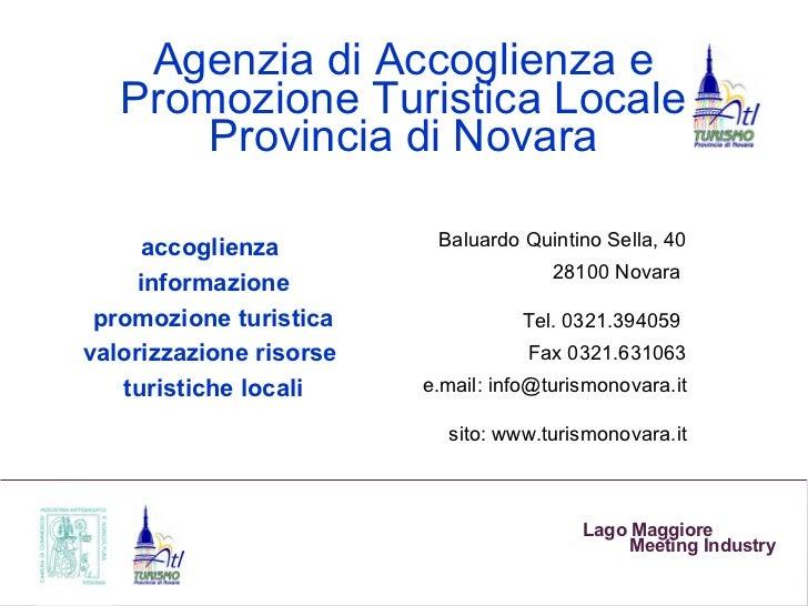 Agenzia di Accoglienza e   Promozione Turistica Locale       Provincia di Novara      accoglienza         Baluardo Quintin...