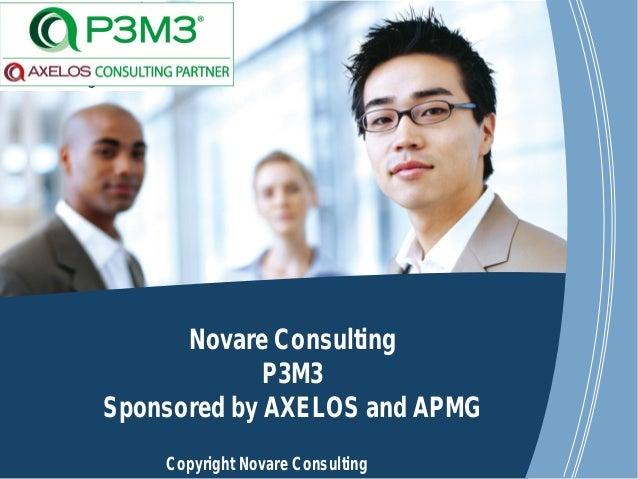 www.novareconsulting.com Copyright Novare Consulting Novare Consulting P3M3 Sponsored by AXELOS and APMG