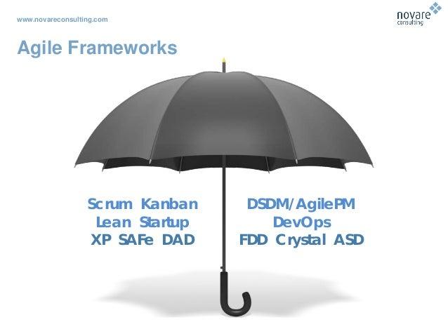 www.novareconsulting.com Agile Frameworks DSDM/AgilePM DevOps FDD Crystal ASD Scrum Kanban Lean Startup XP SAFe DAD
