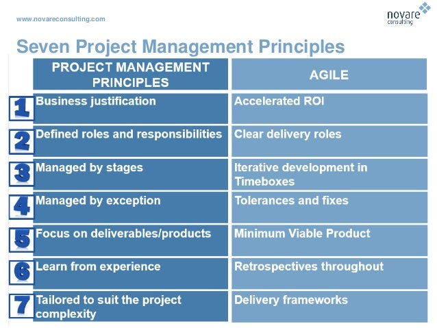 www.novareconsulting.com Seven Project Management Principles