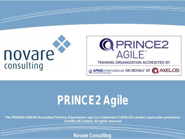 Novare Consulting The PRINCE2 AGILE® Accredited Training Organization logo is a trademark of AXELOS Limited, used under pe...
