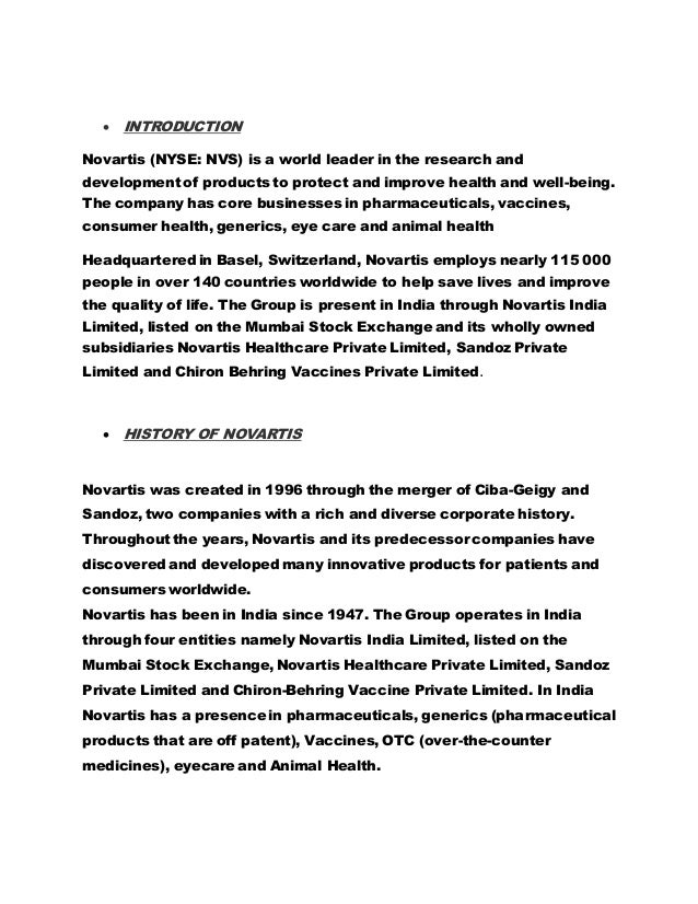 management development in ciba geigy ltd novartis Novartis was created by the merger between ciba-geigy and  development, production and marketing of pharmaceuticals and agrochemicals  novartis managers will be represented on the syngenta corporate governance  ingredients already in annex i is very limited, clearly the national registration.