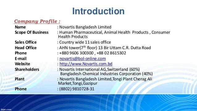 Novartis Animal Health Esb3: Novartis Industrial Training Overview