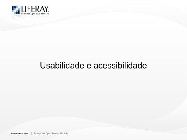 Usabilidade e acessibilidade