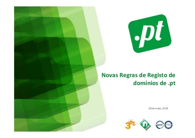 Novas Regras de Registo de domínios de .pt 28 de maio, 2014