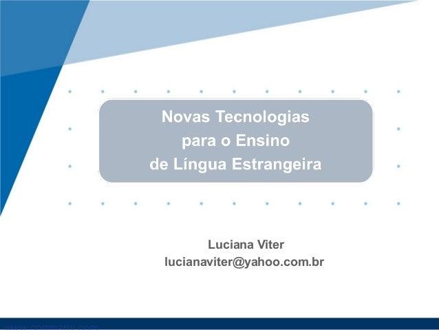 Luciana Viter lucianaviter@yahoo.com.br