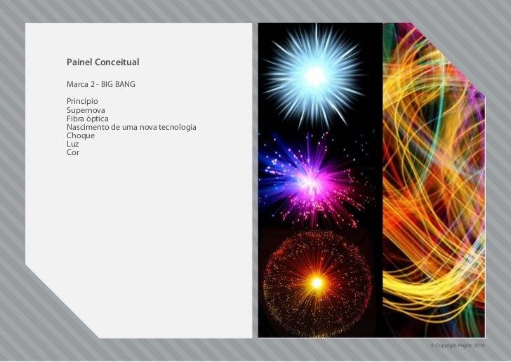 Painel ConceitualMarca 2 - BIG BANGPrincípioSupernovaFibra ópticaNascimento de uma nova tecnologiaChoqueLuzCor