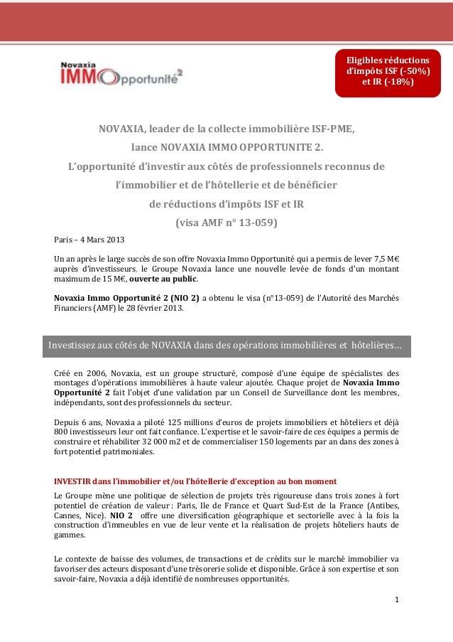Eligibles réductions                                                                                     d'impôts ISF (-50...