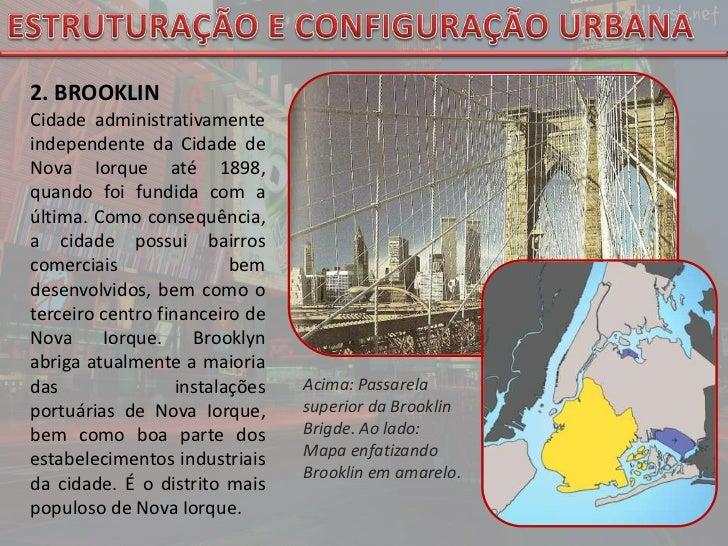 ESTRUTURAÇÃO E CONFIGURAÇÃO URBANA<br />2. BROOKLIN <br />Cidadeadministrativamente independente da Cidade de Nova Iorque...