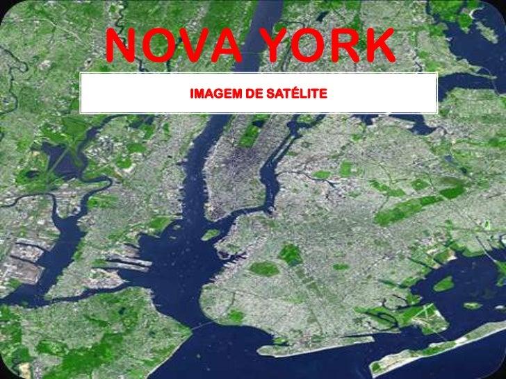 Nova York<br />Imagem de satélite<br />