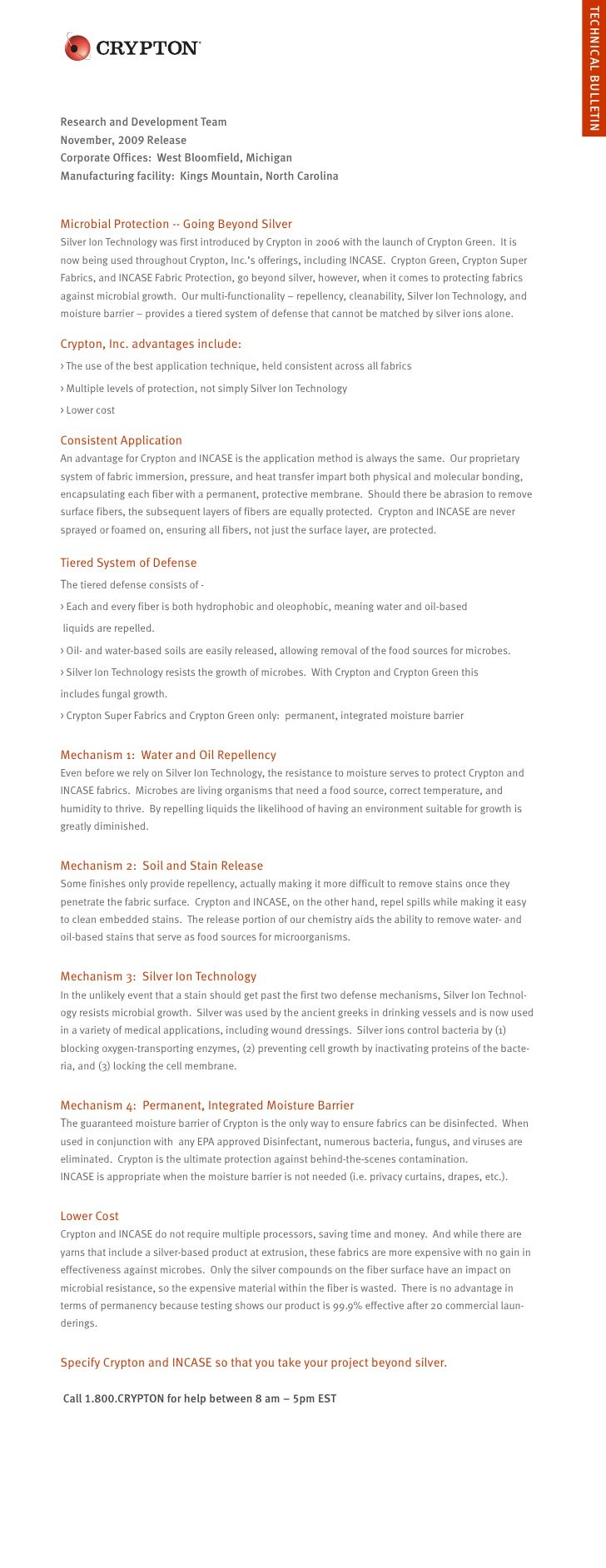 TECHNICAL BULLETIN Research and Development Team November, 2009 Release Corporate Offices: West Bloomfield, Michigan Manuf...
