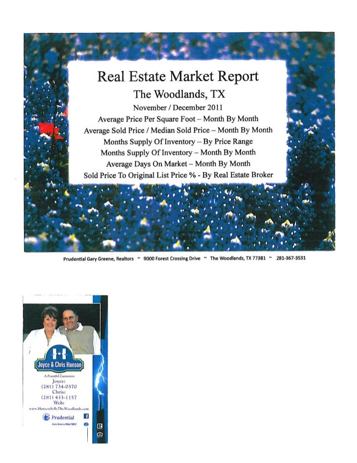The Woodlands-Home Sales Report