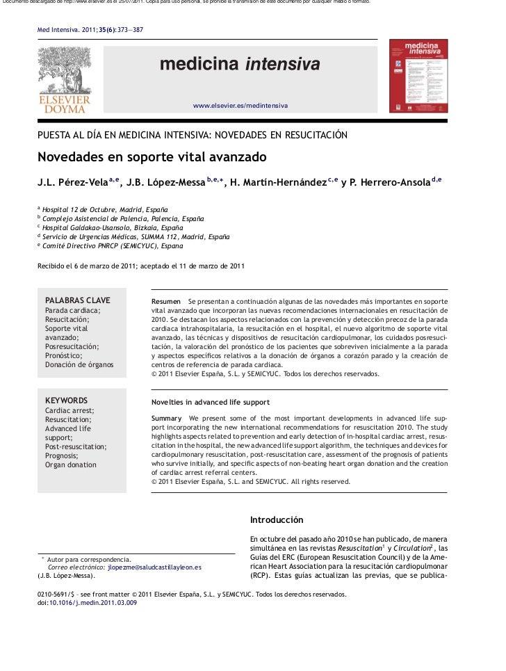 Documento descargado de http://www.elsevier.es el 25/07/2011. Copia para uso personal, se prohíbe la transmisión de este d...