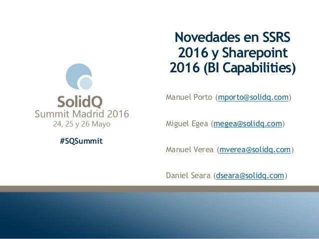 Novedades en ssrs 2016 y sharepoint 2016 bi capabilities for Novedades en cortinas 2016