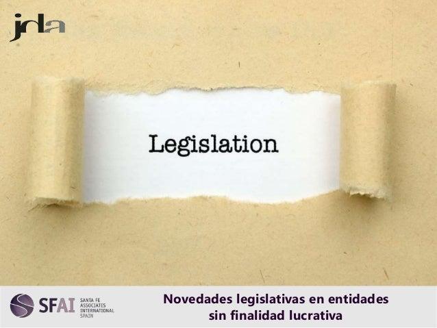 Los 23 +1 delitos penales Novedades legislativas en entidades sin finalidad lucrativa