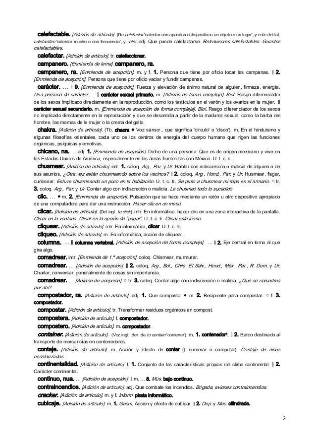 Novedades Diccionario RAE Slide 2