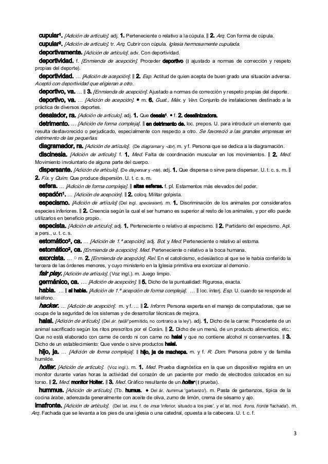 Novedades Diccionario RAE Slide 3