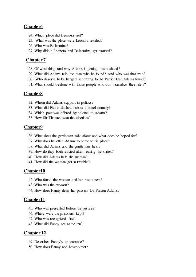 joseph andrews themes pdf