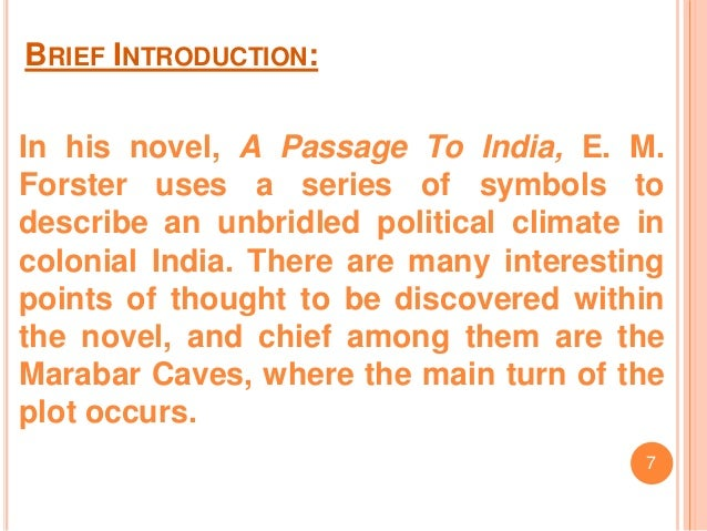 Presentation On Novel A Passage To India