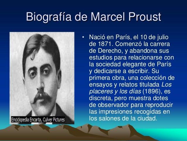 Novela Contempor Nea Marcel Proust