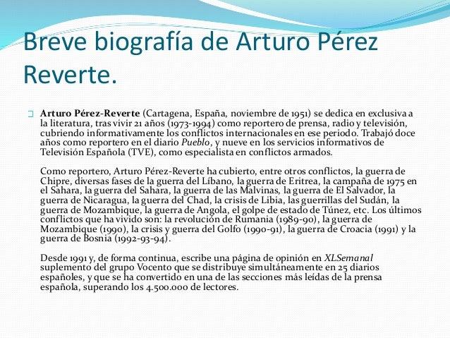 Novela histórica en Arturo Pérez Reverte Slide 3
