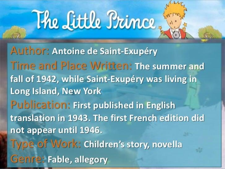 an analysis of the french novel the little prince A short summary of antoine de saint-exupéry's the little prince this free synopsis covers all the crucial plot points of the little prince.