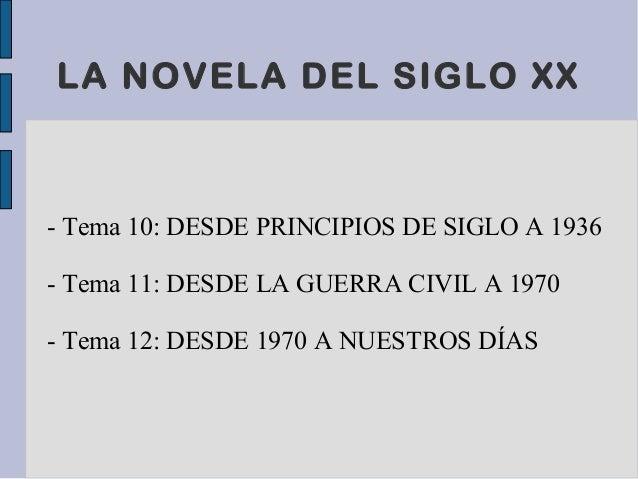 Novela Siglo Xx