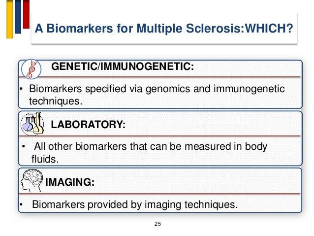 25 GENETIC/IMMUNOGENETIC: • Biomarkers specified via genomics and immunogenetic techniques. LABORATORY: • All other biomar...