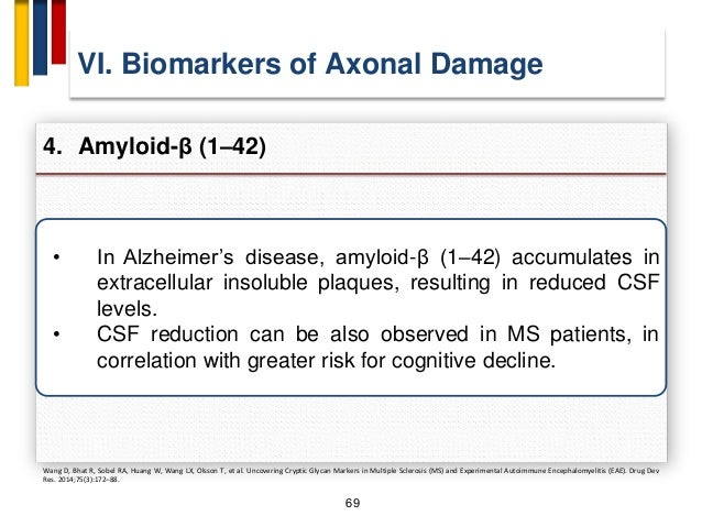 "72 VII. Biomarkers of Glial Activation Dysfunction 1. S100B Protein A. Petzold, M. J. Eikelenboom, D. Gveric et al., ""Mark..."