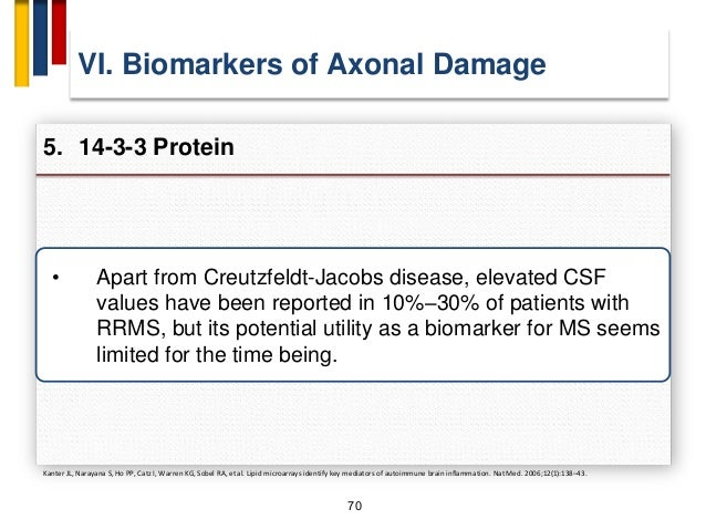 """73 VIII. Biomarkers of Remyelination Repair 1. Neuronal Cell Adhesion Molecule (N-CAM) A. R. Massaro, """"Are there indicator..."""