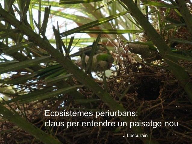 Ecosistemes periurbans: claus per entendre un paisatge nou J Lascurain