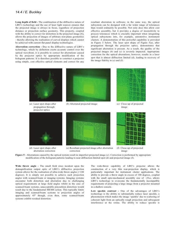 Novel Human Machine Interface (Hmi) Design Enabled By Holographic Laser Projection Slide 3