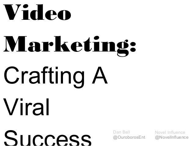 VideoMarketing:Crafting AViral        Dan Ball        Novel Influence        @OuroborosEnt   @NovelInfluence