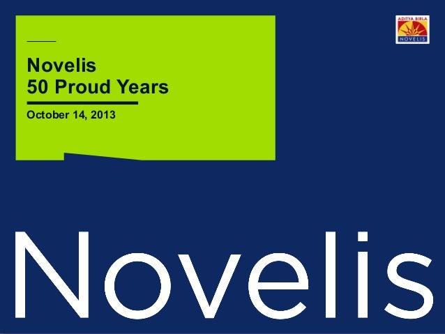 Novelis 50 Proud Years October 14, 2013  Page 1  ©2013 Novelis Inc.