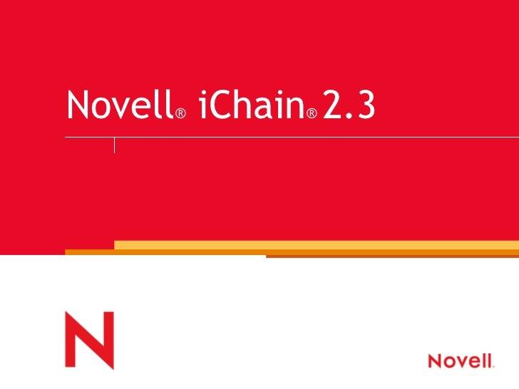 Novell ®  iChain ®  2.3